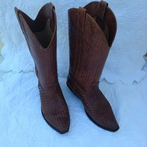 Cole Hann Woven Leather Boots